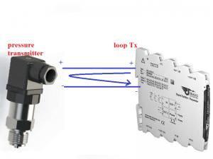 Đấu dây cảm biến áp lực 2 dây vào bộ chuyển đổi DN21000