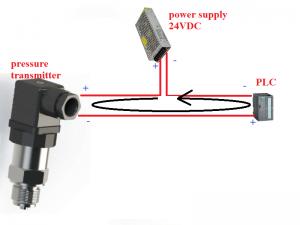 Cách đấu cảm biến áp suất 2 dây