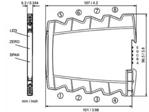 Kích thước bộ chuyển đổi tín hiệu 4-20mA